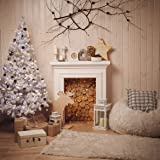 SJOLOON 10x10ft Christmas backdrops for Photography Indoor Wood Photo Backdrop Xmas Tree Festival Party Photography Background Studio 11198 (Color: 11198, Tamaño: 10X10FT)