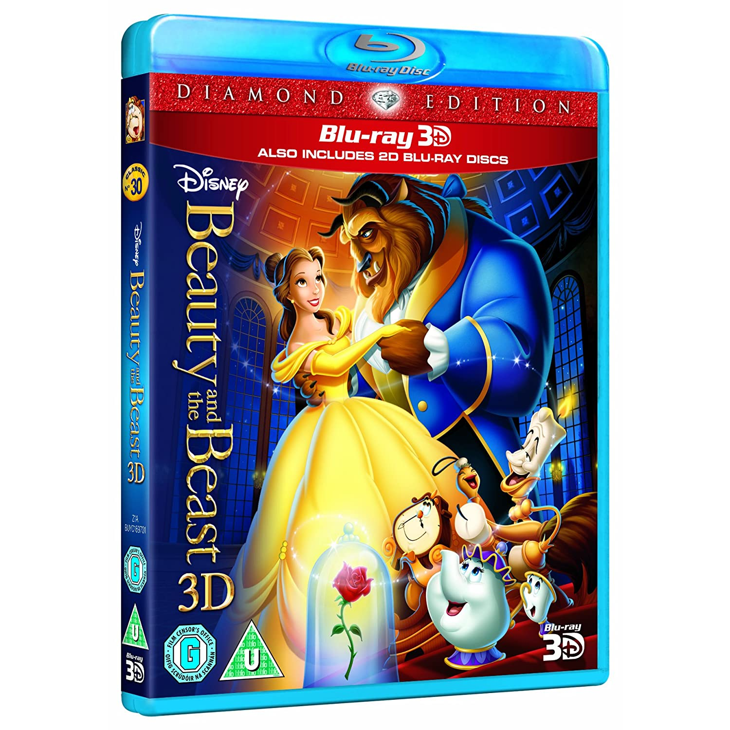 beauty and the beast 3d blu ray 3d 2d blu ray sealed. Black Bedroom Furniture Sets. Home Design Ideas