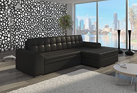 Couch Couchgarnitur Sofa Polsterecke CF16 Ottomane rechts, Soft 11 (die Ottomane kann schriftlich kostenlos auf die andere Seite geändert werden) Wohnlandschaft Schlaffunktion Wohnzimmer Kinderzimmer Gästezimmer