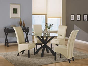 "TAUPE LEATHER-LOOK 40""H PARSON CHAIR / 2PCS PER CARTON with Chanasya Polish Cloth Bundle"