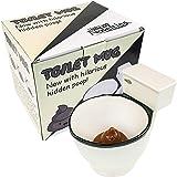 Fairly Odd Novelties FON-10236 Ceramic Toilet Coffee Mug - Now With Hidden Poop 11-Ounces, White (Color: White, Tamaño: 11 ounces)