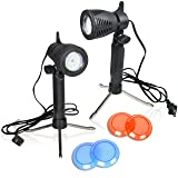 Emart Photography Continuous 12 LED Lamp Table Top Light Studio Portable Lighting Kit with Color Gel Filters - 2 Pack