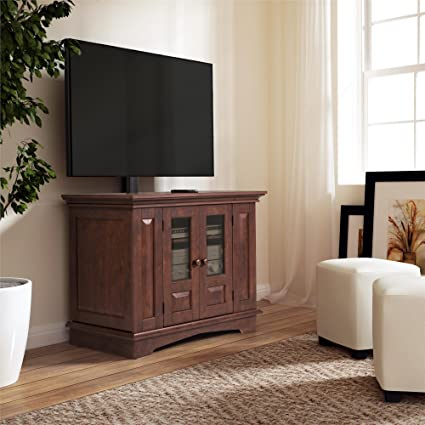 """Altra Furniture 37"""" TV Stand with Mount, Coach Cherry"""