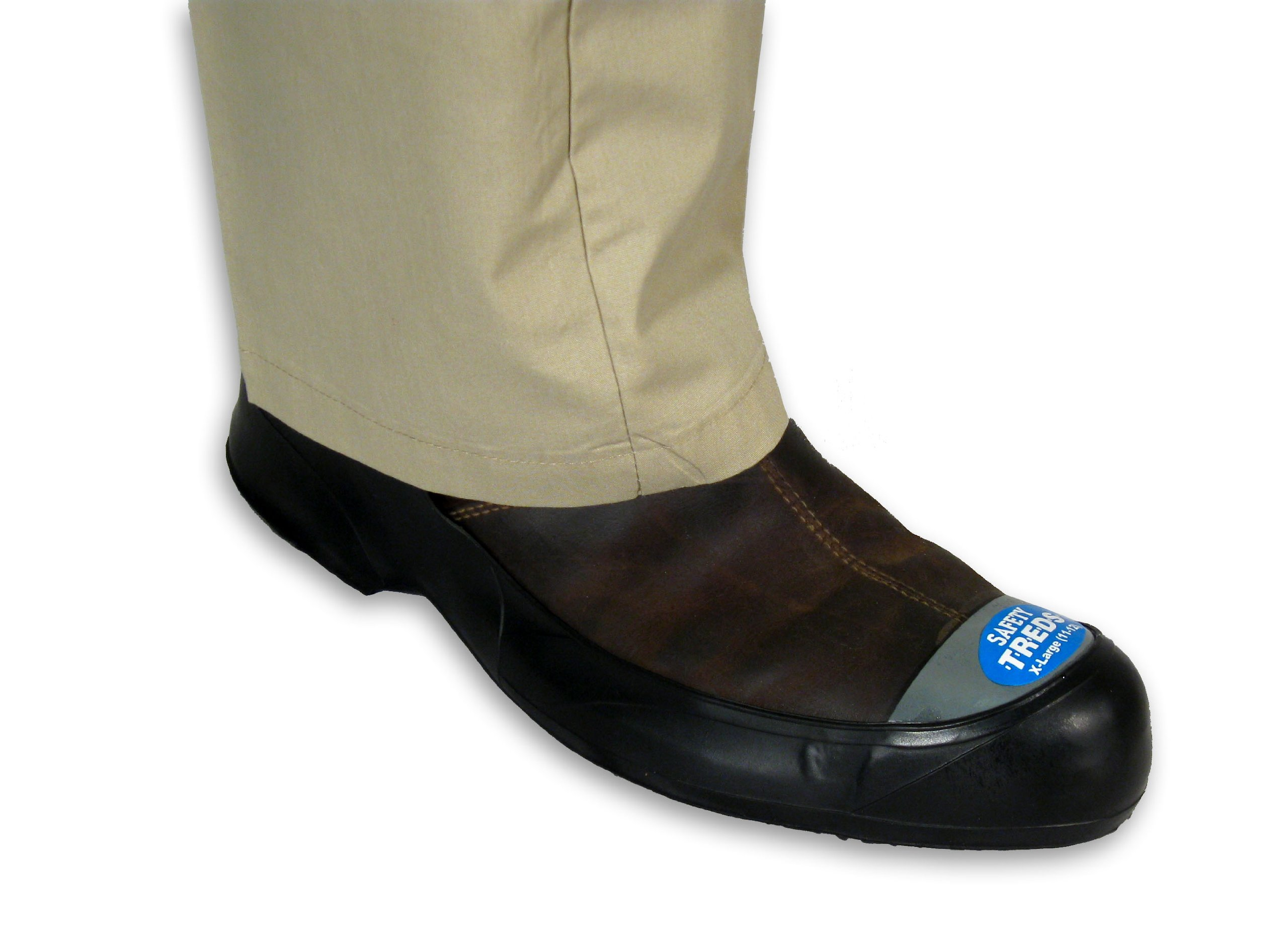 safety treds 13430 steel toe stretch rubber overshoe small