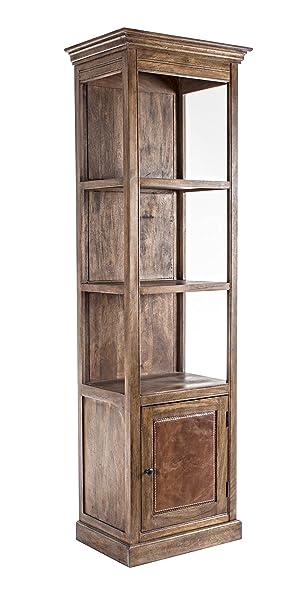 Bizzotto Clayton Libreria 1A-3P, Legno, Marrone, 64 x 45 x 208 cm