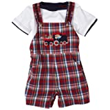 Good Lad July 4Th 2 Piece Short All Set, Red, 6-9 Months
