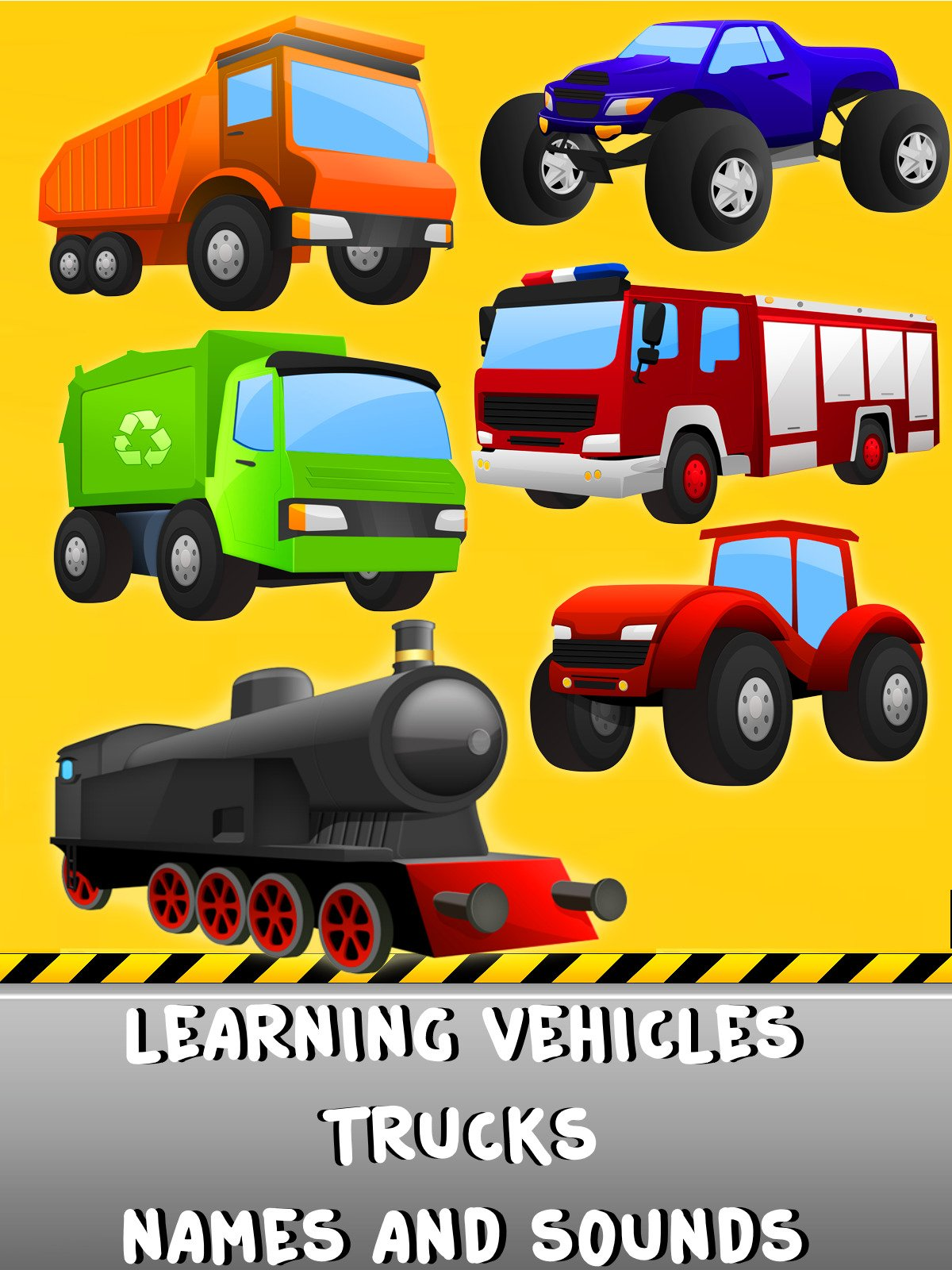 Learning Vehicles Trucks Names And Sounds