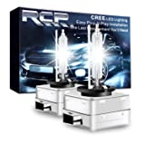 RCP - D1S6 - (A Pair) D1S/D1R 6000K Xenon HID Replacement Bulb Diamond White Metal Stents Base 12V Car Headlight Lamps Head Lights 35W (Color: 6000K, Tamaño: D1S)