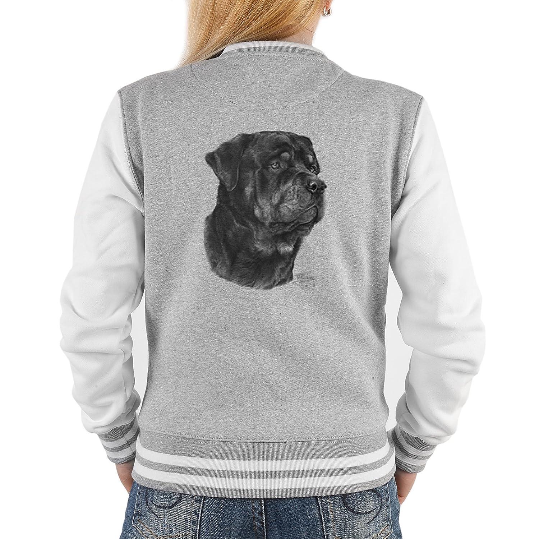 College Jacken für Frauen Hundesport Jacke Rottweiler Rockerbilly Baseball-Jacken Übergangsjacke Damen Jacke Hund Dog Jacke bestellen