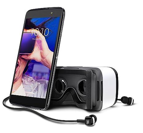 Alcatel Idol 4S smartphone débloqué 4G avec casque de réalité virtuelle offert (Ecran: 5,5 pouces - 32 Go - Double SIM - Android 6.0.1) Gris