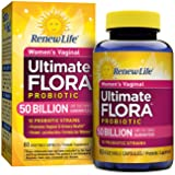 Renew Life Women's Probiotic - Ultimate Flora Probiotic Women's Care, Shelf Stable Probiotic Supplement - 50 Billion - 60 Vegetable Capsules (Tamaño: 60 Count)