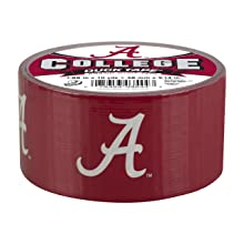 Duck Brand 240077 University of Alabama College Logo Duct Tape, 1.88-Inch by 10 Yards, Single Roll