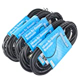 MCSproaudio  XLR CABLE 25FT Low Z Male to Female 3 Pin XLR Mic Microphone Cable, 5 PACK (Color: Black, Tamaño: 25Ft)