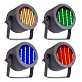 CO-Z 4pcs DMX Controlled LED Stage Lights, 86 RGB Sound Activated Par Stage Effect Lighting for Home Party Festival Bar Club Wedding Church Uplighting (Tamaño: 4 PCS)