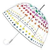 totes Signature Clear Bubble Umbrella, Dots (Color: Dots, Tamaño: One Size)