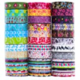 24 Rolls Washi Tape Set, 8mm Wide Decorative Masking Tape,Festival Gift Wrapping Party Supplies (Color: Mix)