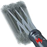 Kona 360 Clean Grill Brush, 18 inch Best BBQ Grill Brush - Stainless Steel 3-in-1 Grill Cleaner for Effortless Cleaning (Color: Black)