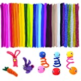 Acerich 600 Pcs Assorted Colors Pipe Cleaners DIY Art Craft Decorations Chenille Stems (6 mm x 12 Inch) (Color: 600 Pcs, Tamaño: One Size)