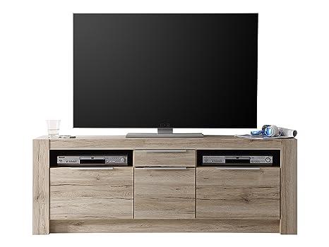 trendteam CG85290 TV Möbel Lowboard Eiche San Remo hell Nachbildung, BxHxT 161x59 40 cm