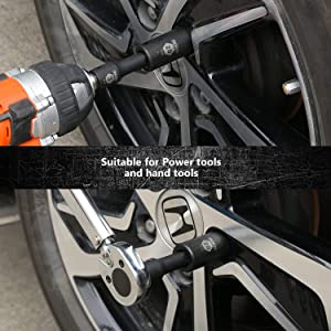 TACKLIFE 1/2-Inch Drive Master Deep Impact Socket Set, Metric, CR-V, 6 Point, 18-Piece Set - HIS1A (Color: Black, Tamaño: Medium)