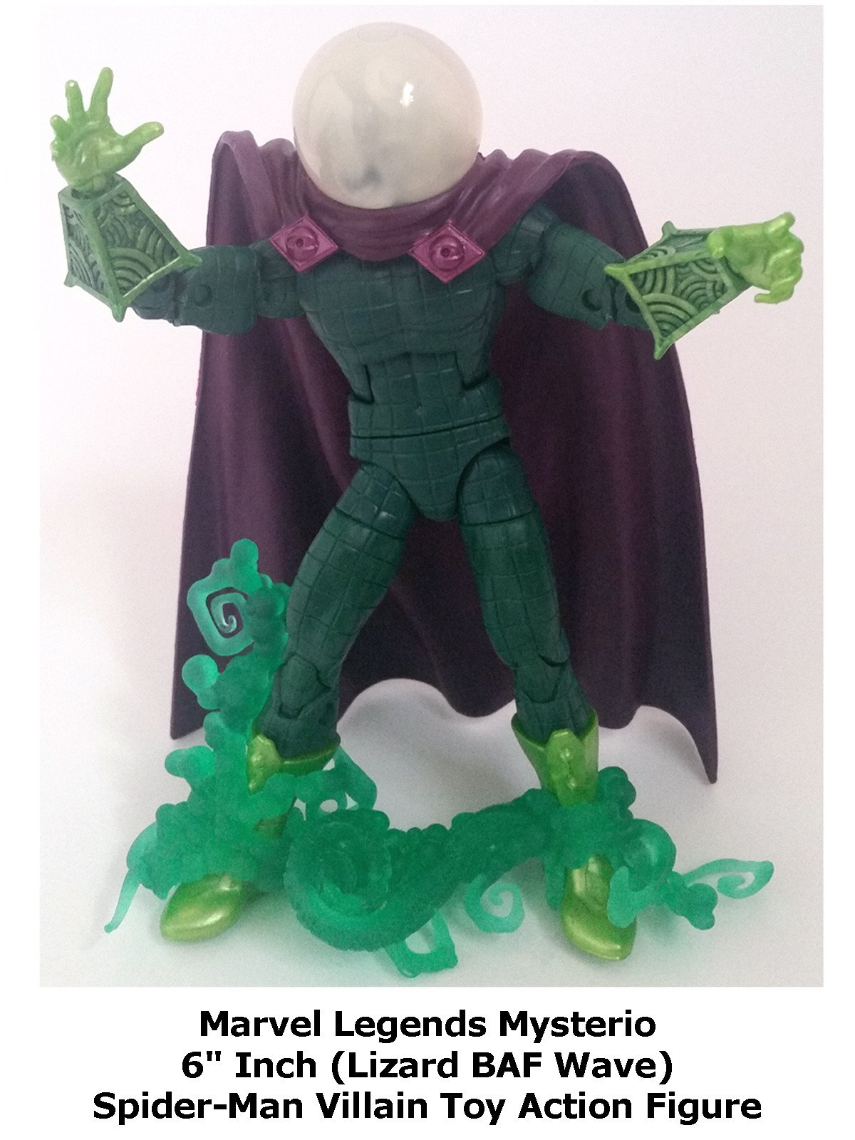 "Review: Marvel Legends Mysterio 6"" Inch (Lizard BAF Wave) Spider-Man Villain Toy Action Figure"