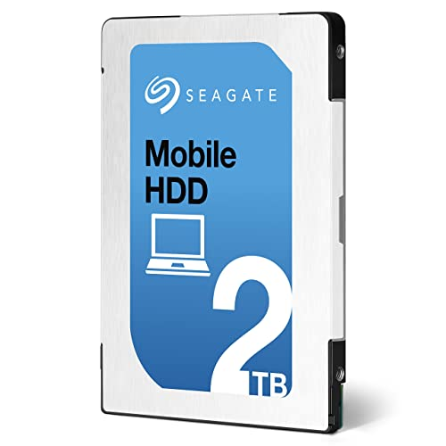 Seagate シーゲイト 内蔵ハードディスク Mobile HDD 2TB ( 2.5 インチ / SATA 6Gb/s / 5400rpm / 128MB / 2年保証 ) 正規輸入品 ST2000LM007