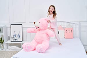 IKASA Giant Teddy Bear Plush Toy Stuffed Animals (Pink, 39 inches) (Color: Pink, Tamaño: 39 inches)