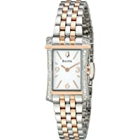 Bulova 98R186 Analog Display Analog Quartz Two Tone Women's Watch