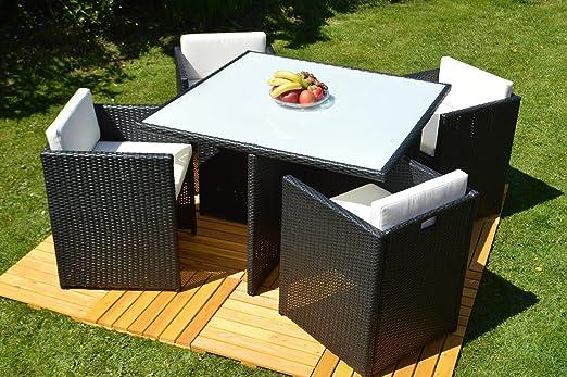 Juego de muebles de jardín (5San Marino Essgruppe Dinning Set (ratán, mesa + 4Sillón)