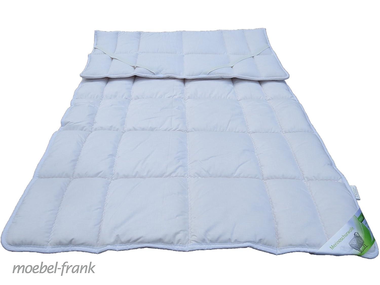 Unterbett Merino Schurwolle – Bezug Baumwolle Auflage Matratzenauflage Lennard, Größe:200×200 cm online bestellen