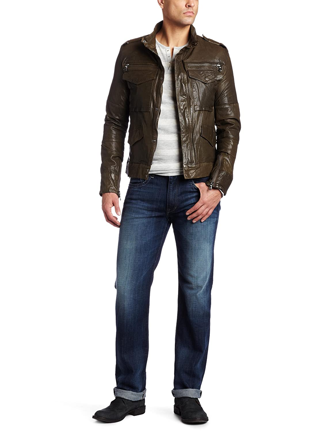 Joe's Jeans Men's Jerome Leather Jacket