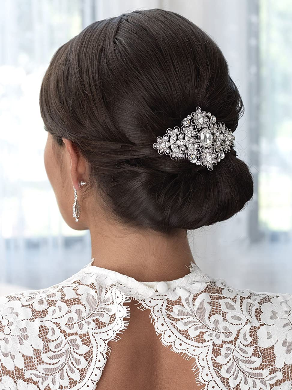 USABride Vintage Gold Tone Wedding Comb Filigree Bridal Hair Accessory 2241-G 2