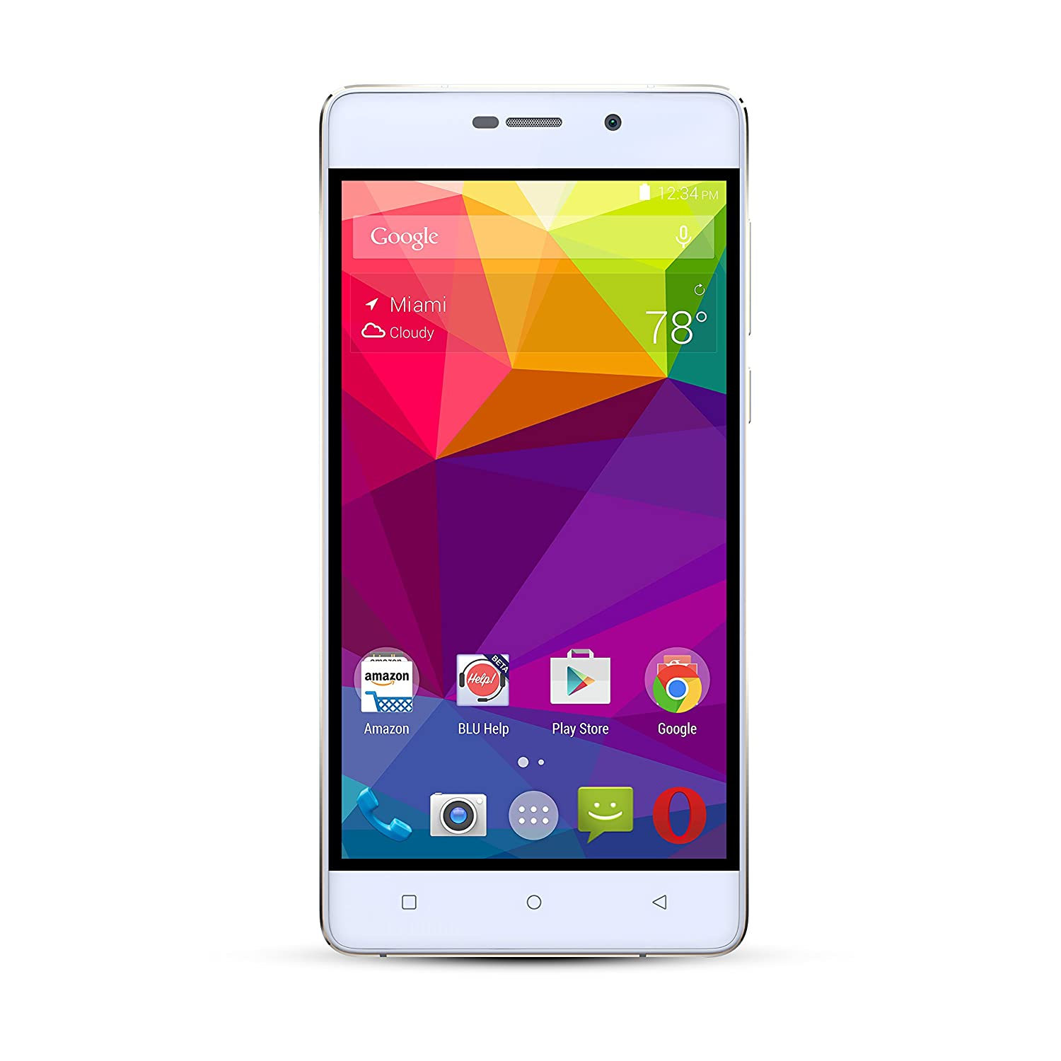 BLU Studio Energy 2 - 5000 mAh Super Battery - 4G LTE GSM Unlocked - White
