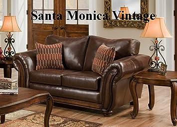 Simmons Upholstery Santa Monica Bonded Leather Loveseat