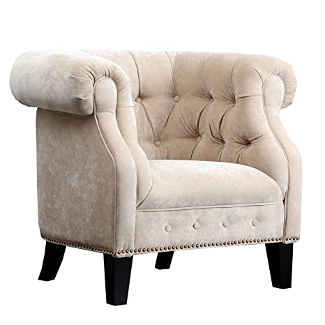 Abbyson Living Bellagio Fabric Nailhead Trim Armchair