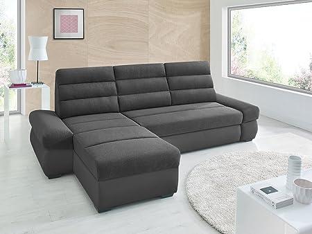 Canapé d'angle convertible BIMBO Noir