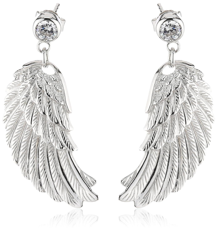 Engelsrufer Damen-Ohrhänger 925 Sterling Silber rhodiniert Flügel groß ERE-W1 jetzt kaufen