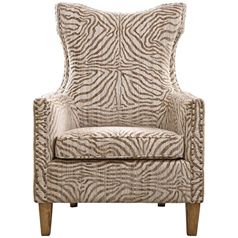 Uttermost 23208 Kiango Animal Pattern Armchair