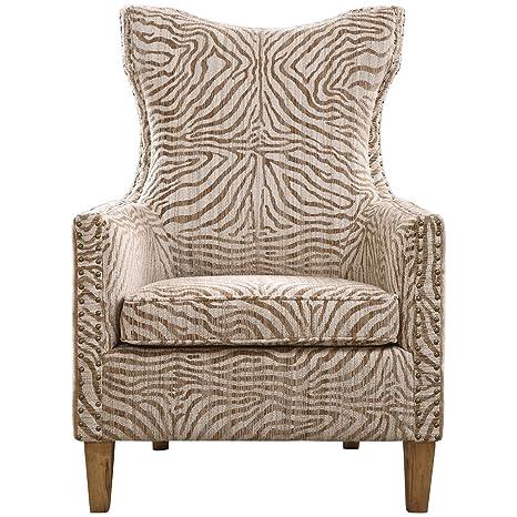 Uttermost 23208 Kiango Animal Pattern Armchair