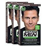 Just For Men Original Formula Men's Hair Color, Real Black (Pack of 3)