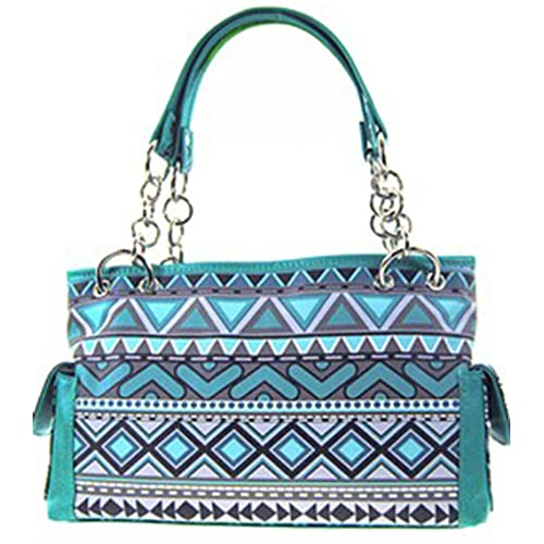 Aztec Santa Fe Print Satchel Bag Shoulder Purse