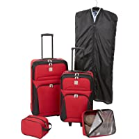 Relativity Red Expandable 5-pc. Luggage Set