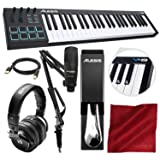 Alesis V49 49-Key MIDI Keyboard & Drum Pad Controller with Marantz Pod Pack 1 Broadcasting Kit, PreSonus Headphones, Sustain Pedal and Platinum Bundle