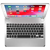 Brydge 12.9 Keyboard for iPad Pro 12.9-inch   2017/2015 Models only   Aluminum Bluetooth Wireless Keyboard with Backlit Keys   Long Battery Life   Silver (Color: Silver)