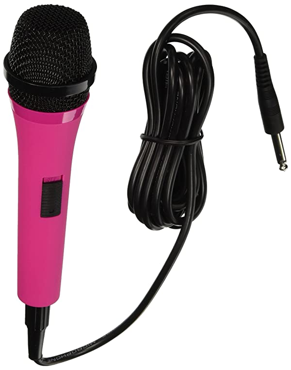 Singing Machine SMM205P Uni-Directional Dynamic Microphone with 10-Foot Cord - Pink (Color: Pink)