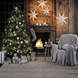WOLADA 10x10ft Merry Christmas Seamless Photography Backdrops Child Christmas Fireplace Decoration Background for Photo Studio Prop 11362 (Color: 11362 10x10ft, Tamaño: 10x10ft)
