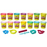 Play-Doh Sparkle and Bright 14 Pack of Cans, Non-Toxic Modeling Compound, 3-Ounce Cans (Amazon Exclusive) (Tamaño: 14 Cans)