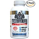 Angry Supplements Monster Test Testosterone Booster-5452 mg Tribulus, Cranks T-Levels Naturally Formulated In the USA to Gain Muscle Mass, Boost Energy in the Gym, Last Longer in the Bedroom. (2-Pack) (Color: Color of Tablets Are Tan, Tamaño: 2-Pack)