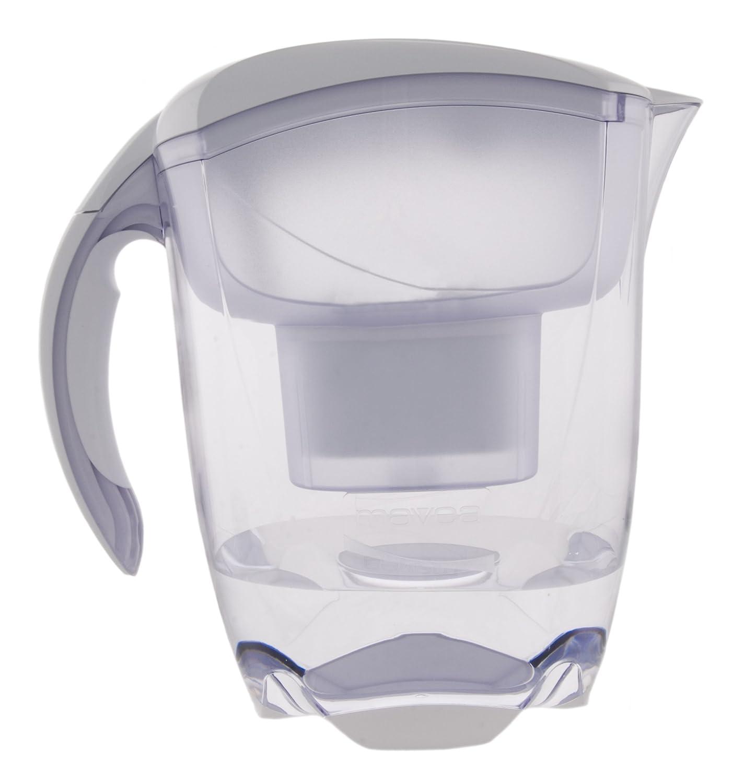 Mavea 1001126 elemaris xl 9 cup water filtration pitcher white ebay - Glass filtered water pitcher ...