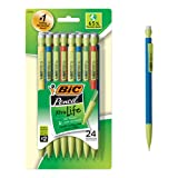 BIC Ecolutions Xtra-Life Mechanical Pencil, Medium Point (0.7mm), 24-Count (Color: Black, Tamaño: 24 Count)
